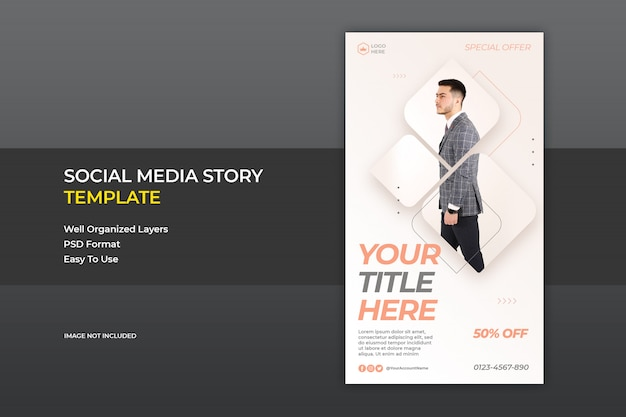 Fashion instagram story ads banner template