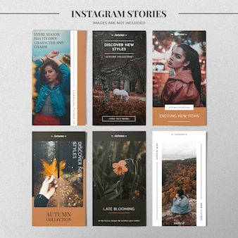 Модный шаблон instagram instagram