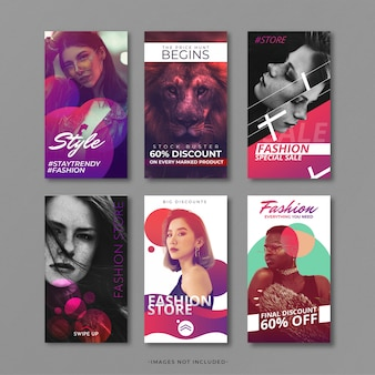 Fashion instragram story template
