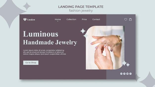 Modello web di gioielli di moda con foto