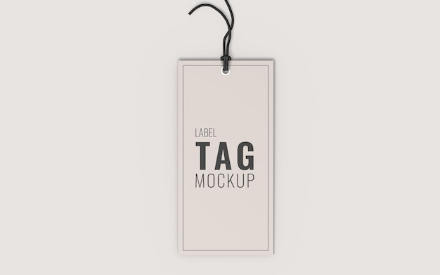 Fashion label tag mockup top view