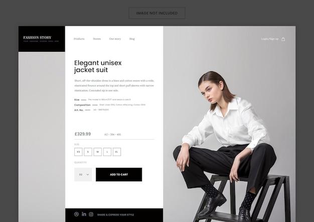Modello di pagina di destinazione della moda