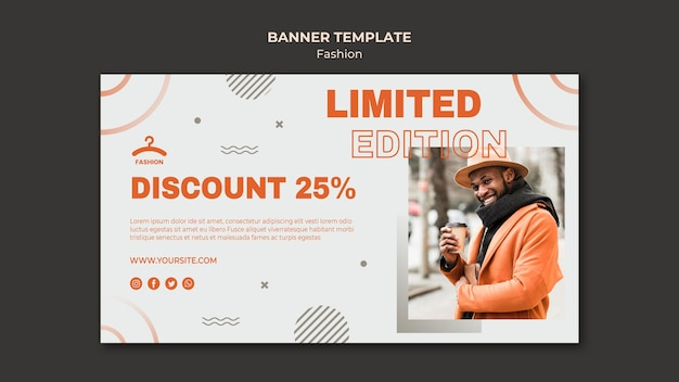 Fashion limited offer banner template