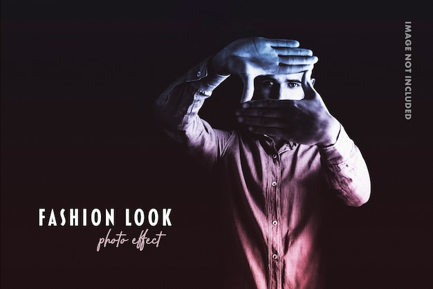 Fashion look photo effect template