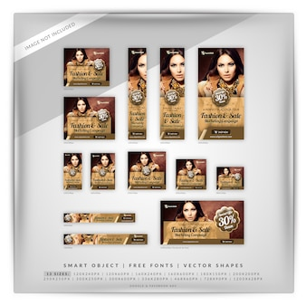 Fashion marketing banner set