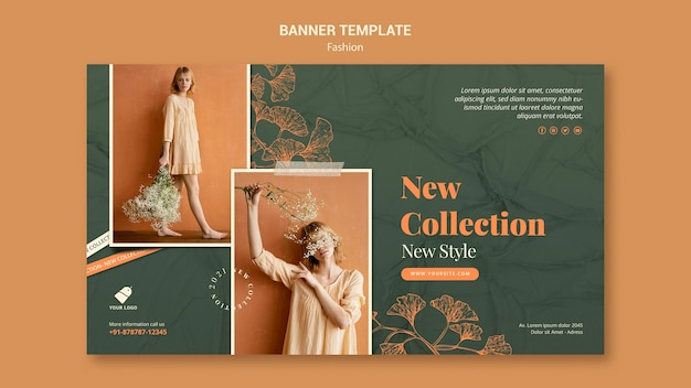 Fashion model banner template