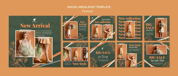 패션 모델 소셜 미디어 게시물