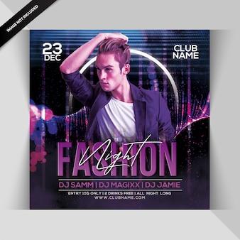 Fashion night party flyer