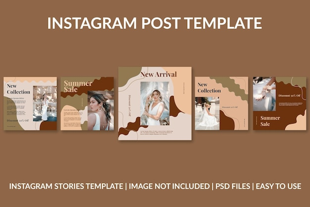 ファッションオーガニックinstagram投稿デザインテンプレート