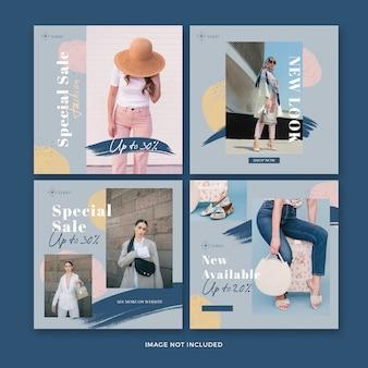 Fashion post  banner collection Premium Psd