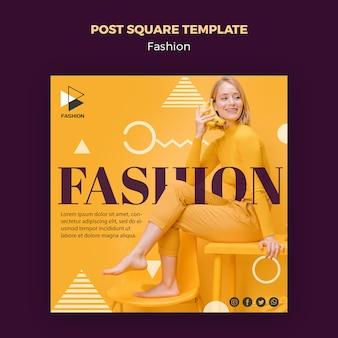 Modello quadrato di moda post
