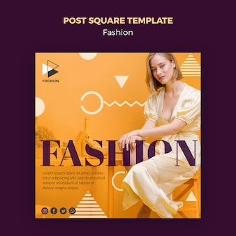 Модный пост квадратный шаблон