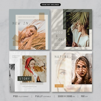 Fashion post template collection