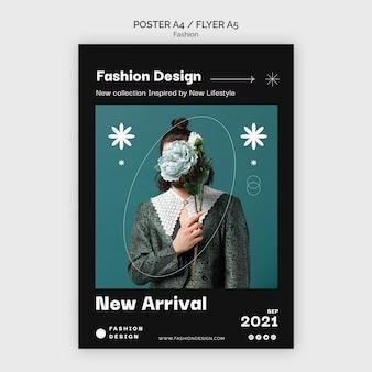 ファッションポスターデザインテンプレート