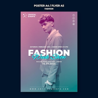 Шаблон плаката моды