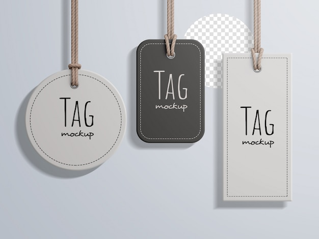 Fashion price label tag mockup  collection