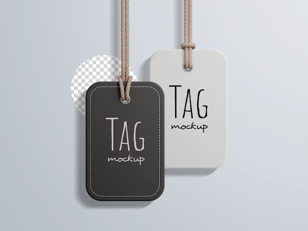 Fashion price label tag mockup
