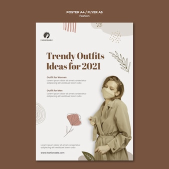 Fashion print template with photo