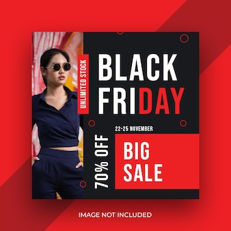 Fashion product black friday social media instagram banner