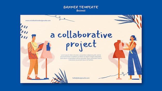 ファッションプロジェクトバナーテンプレート