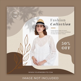 fashion promotion post banner template