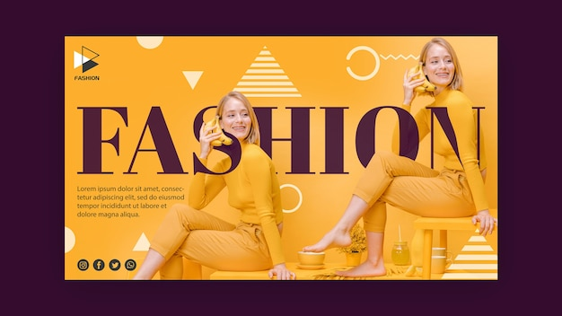 Fashion promotional banner template