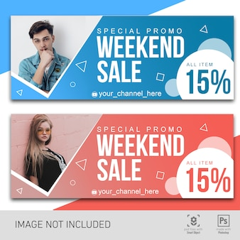 Fashion promotional discount banner