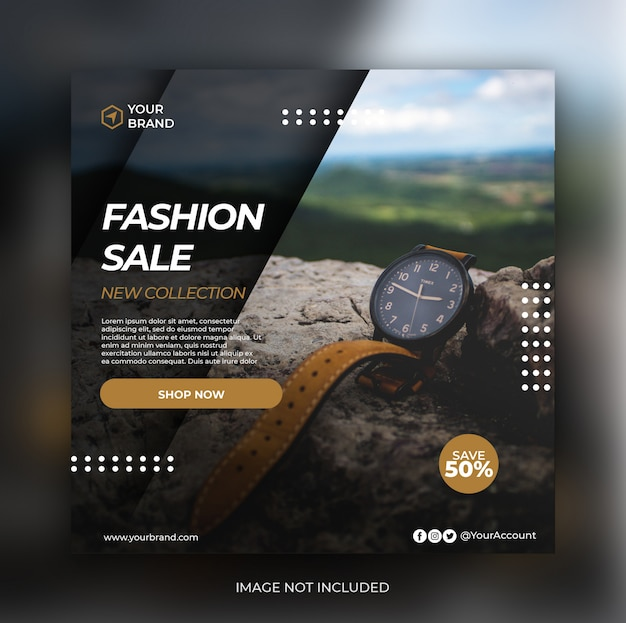 Fashion Retail Sale Flyer Free Psd Template: Business Banner Template