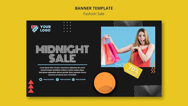 Fashion sale concept banner template