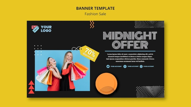 Fashion sale concept banner template