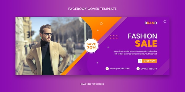 Fashion sale cover banner social media ad template