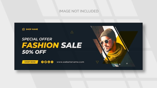 Fashion sale facebook  social media template