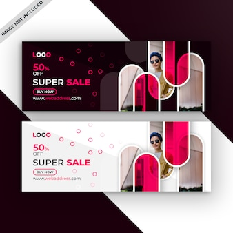 Fashion sale facebook timeline cover template