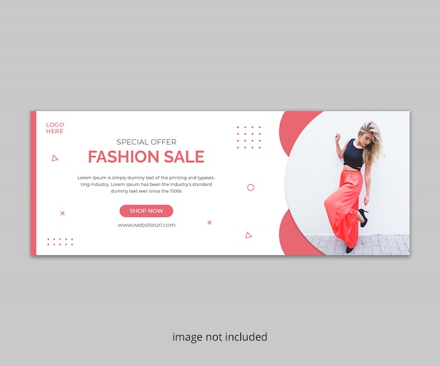 Fashion sale facebook timeline cover