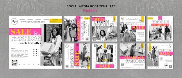 Fashion sale instagram posts