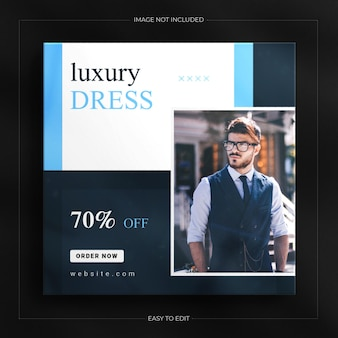 Fashion sale instagram story and social media banner template with a luxury mockup
