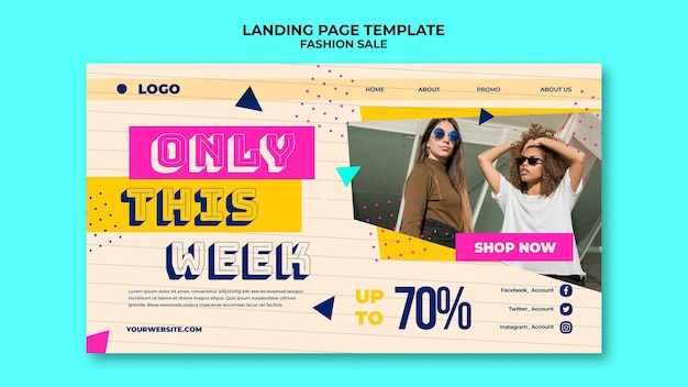 Шаблон целевой страницы продажи моды