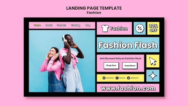 패션 판매 방문 페이지 템플릿