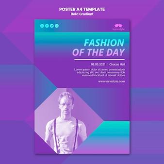 Шаблон плаката продажи моды