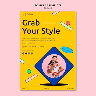 패션 판매 포스터 템플릿