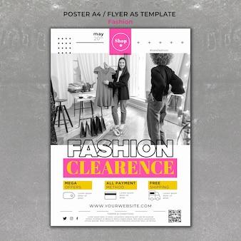 Modello di stampa di vendita di moda