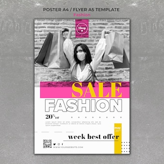 Шаблон печати распродажи моды