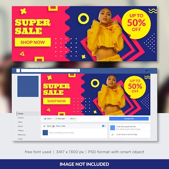Fashion sale promo for facebook cover