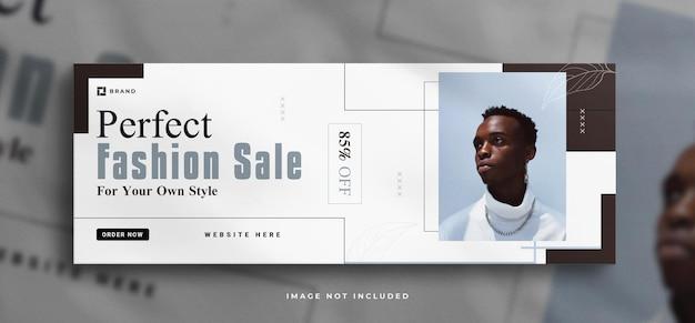 Рекламный баннер для социальных сетей и шаблон обложки facebook с чистым макетом