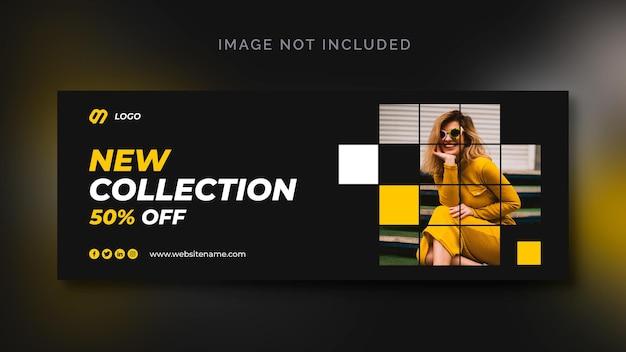 Banner di social media di vendita di moda o modello di social media