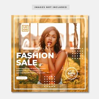 Fashion sale social media banner
