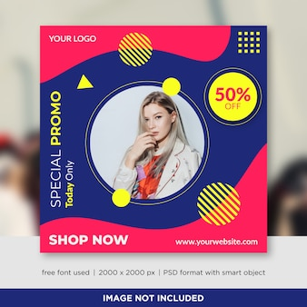 Fashion sale social media banners template