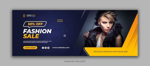Fashion sale social media facebook cover template