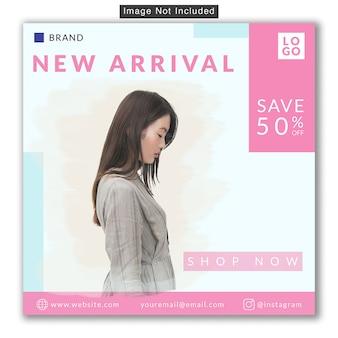 Fashion sale social media instagram banner premium psd