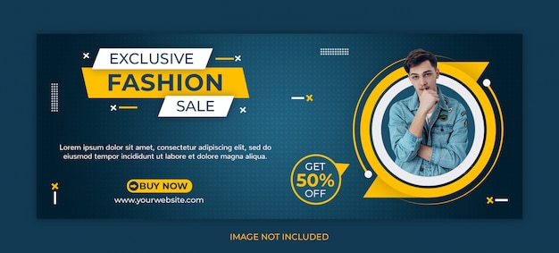 Fashion sale social media post or facebook cover template